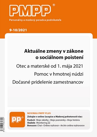 PMPP 9-10/2021 Aktuálne zmeny v zákone o sociálnom poistení