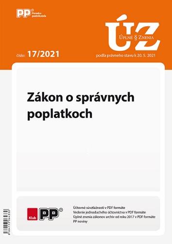 UZZ 17/2021 Zákon o správnych poplatkoch