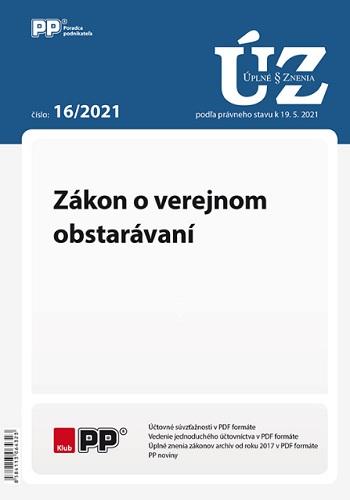 UZZ 16/2021 Zákon o verejnom obstarávaní