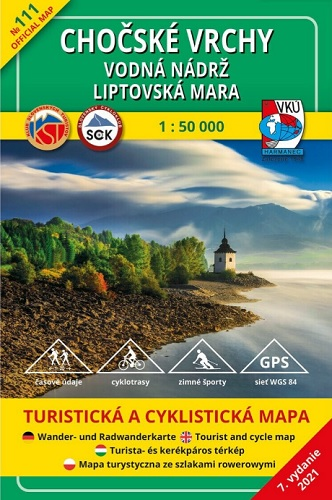 Chočské vrchy - vodná nádrž Liptovská Mara 1:50 000 (7.vydanie)
