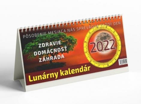 Lunárny kalendár 2022 - stolový kalendár - Zdravie, domácnosť, záhrada