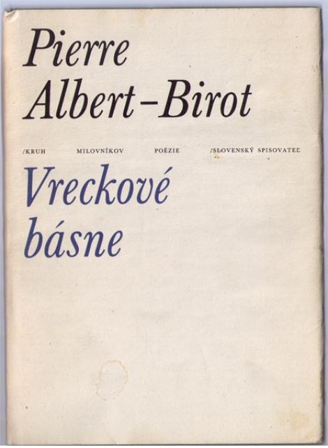 Vreckové básne - Pierre Albert-Birot