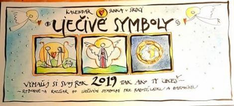 LIEČIVÉ SYMBOLY 2019 - Stolový kalendár Slnka v Srdci