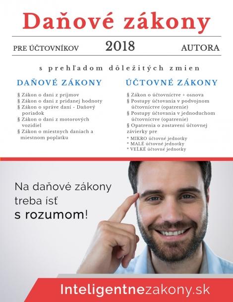 Daňové zákony 2018 pre účtovníkov