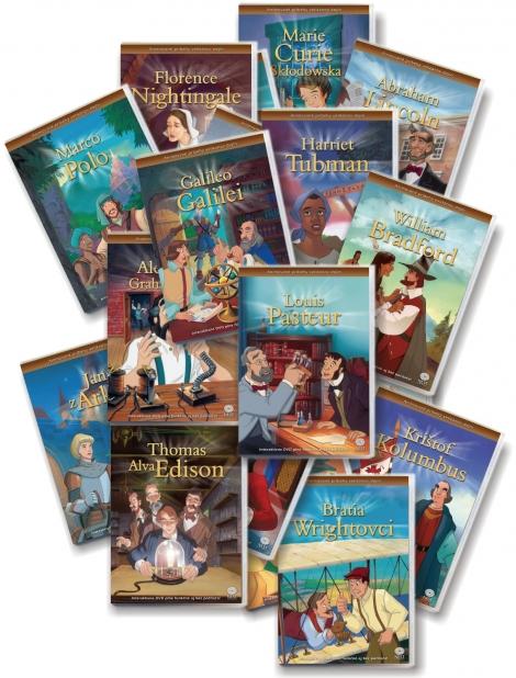 Animované príbehy velikánov dejín - Celá séria (20xDVD) -