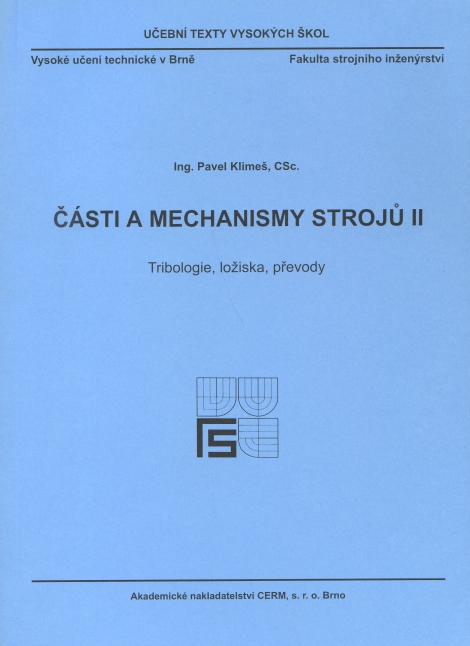 Části a mechanismy strojů II. - Pavel Klimeš