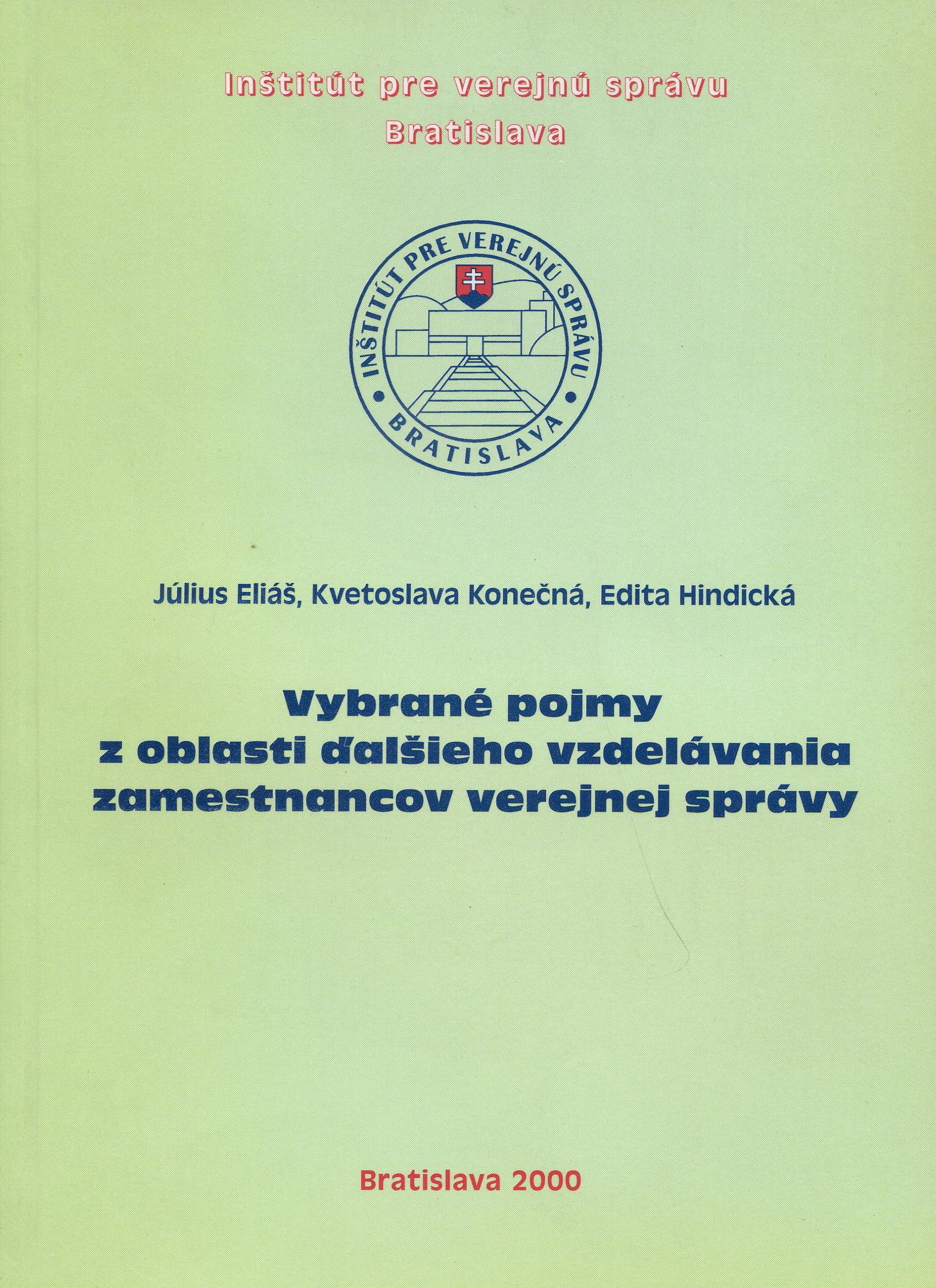 Vybrané pojmy z oblasti ďalšieho vzdelávania zamestnancov verejnej správy